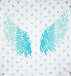 Post a Pic Baby Blanket - Blue Angel Wings