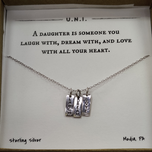 A Daughter is Someone you Laugh with Necklace