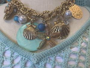 Beach Starfish Shell Statement Necklace