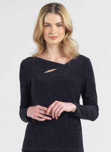 Clara Sunwoo Black Sparkle Knit Top in Black