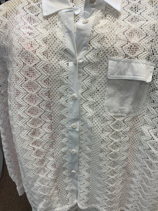 Mesh Button Down Top or Cover Up