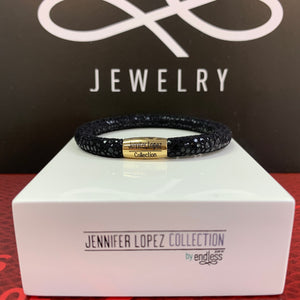 Jennifer Lopez Collection Black Single Wrap Bracelet