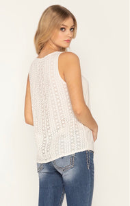 Act Cool Tank with crocheted back