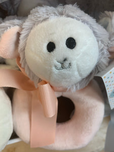 Plush Baby Rattles, Super Soft, Elephant, Llama or Lamb