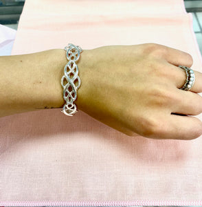 Silver Twist Filagree Stretch Bracelet