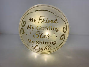 Friendship Light up Glass Ball
