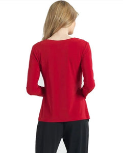 Red Clara Sunwoo Rouched Top - 50% off!