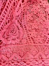 Load image into Gallery viewer, Crocheted Lace Tank Top in Coral Pink or Beach Glass