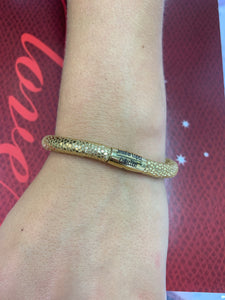 Jennifer Lopez Golden Leather Single Wrap Bracelet