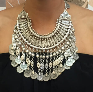 Coin Statement Necklace Jewelry