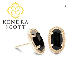 Load image into Gallery viewer, Kendra Scott Black Onyx Earrings with gold