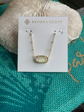 Load image into Gallery viewer, Kendra Scott Elisa Gold Necklace - White Kyocera Opal Illusion