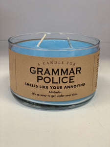 Candle for Grammar Police - Soy Candle