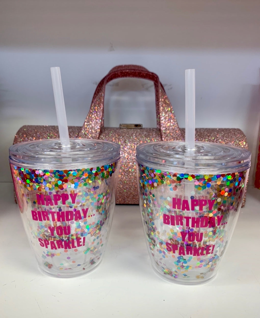 Happy Birthday You Sparkle Glitter Tumbler
