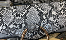 Load image into Gallery viewer, Faux Snakeskin Purse Black and white