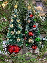 Load image into Gallery viewer, Bottle Brush Tree Ornament with Bell
