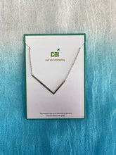 Load image into Gallery viewer, Silver Sideways Initial Necklace