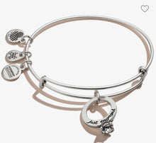 Load image into Gallery viewer, Alex and Ani Just Engaged Bracelet Silver