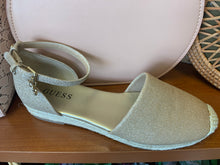 Load image into Gallery viewer, Guess Blush/ Gold Sparkle Espadrille size 7 only