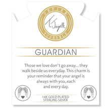 Load image into Gallery viewer, T. Jazelle Guardian Gold Charm on White Pearl Bracelet