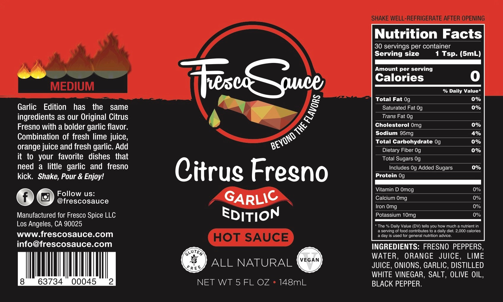 Garlic Edition - Citrus Fresno Hot Sauce