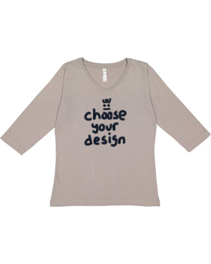 Ladies 3/4 sleeve v-neck-choice