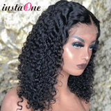 Malaysian Jerry Curly Short Bob Lace Front Human Hair Wig Pre Plucked For Black Women Glueless 13x4 Deep Wave Frontal Wig Remy