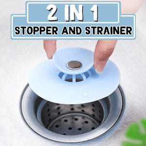 2 in 1 Stopper & Strainer FX04020
