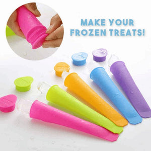 6PCS Creative Silicone Popsicle Mold Set FX05026