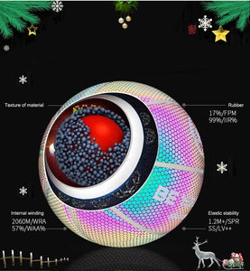 HoloGlowBall™ - Basketball Ball Holographic Reflective FX020402