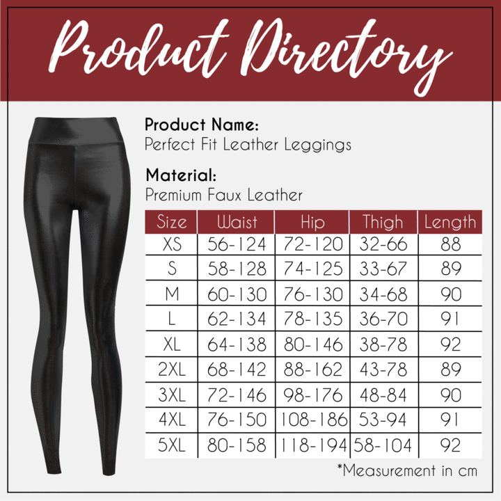 PerfectFit High Waist Leather Leggings MD030403