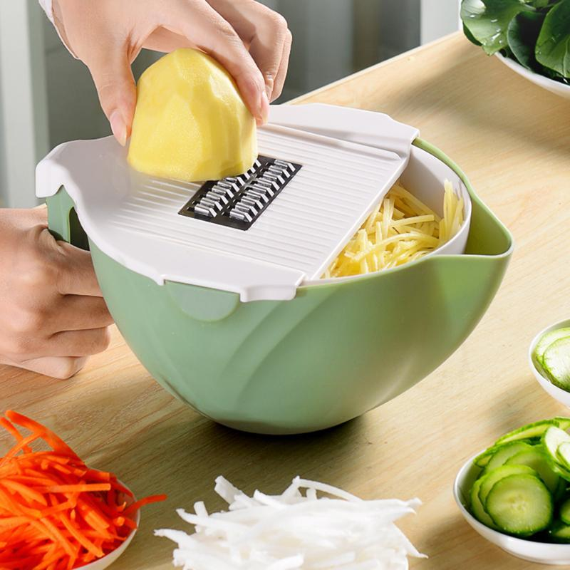 9-in-1 Vegetable Cutter With Drain Basket CN0432