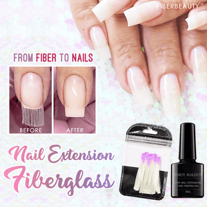 HomeSalon™ - Nail Extension Fiberglass Kit With UV Lamp MD040403