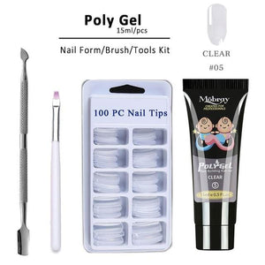 Poly Gel Manicure Set Extend Builder