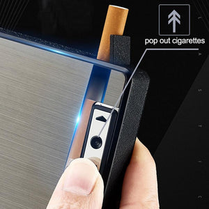 2-in-1 Cigarette Case with Built-in Torch CN0431
