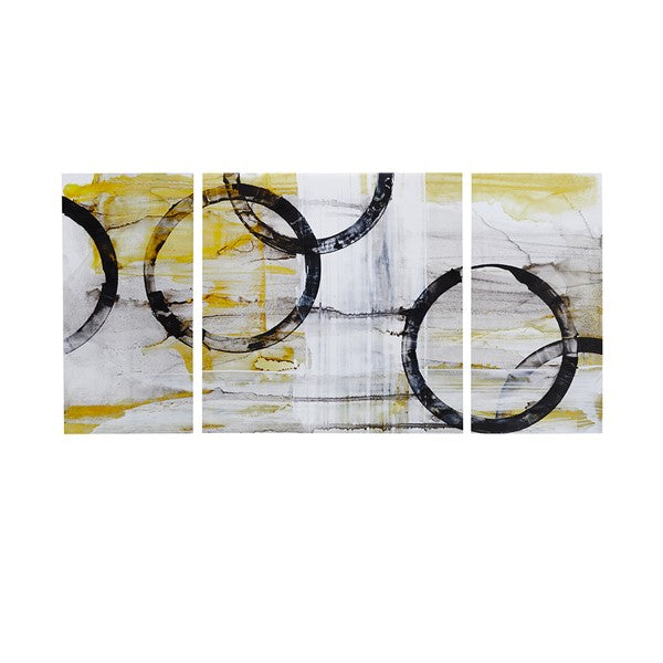 Bold Circle Triptych