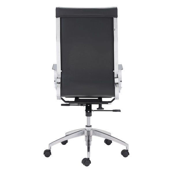 Glider Hi Back Office Chair With Armrests, Multiple Colors