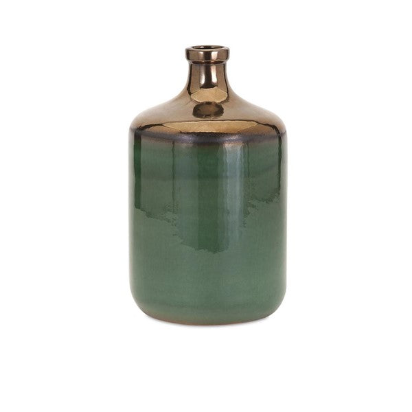 Melenia Green and Bronze Vase