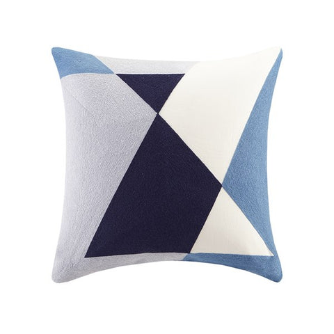 Embroidered Abstract Pillow