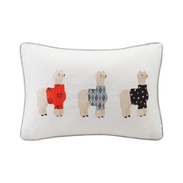 Sweater Weather Alpaca Embroidered Pillow