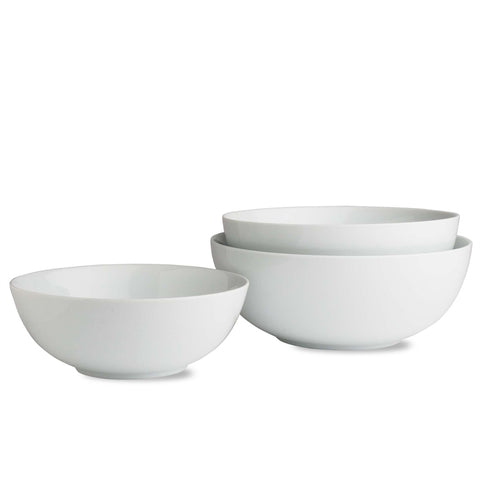 Whiteware Nesting Bowls - Set of 3