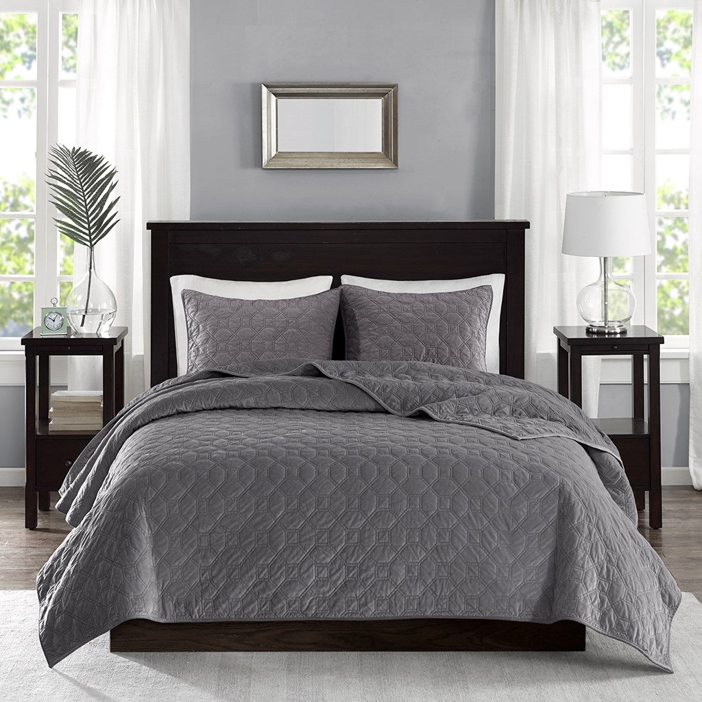 Harper Velvet Coverlet Set
