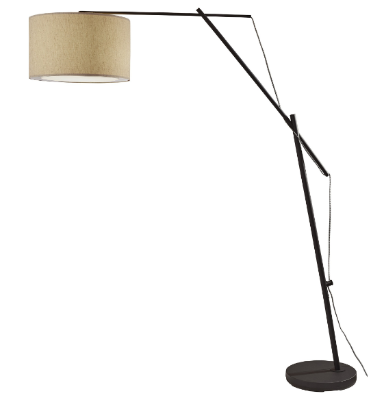 Matte Black Arc Floor Lamp