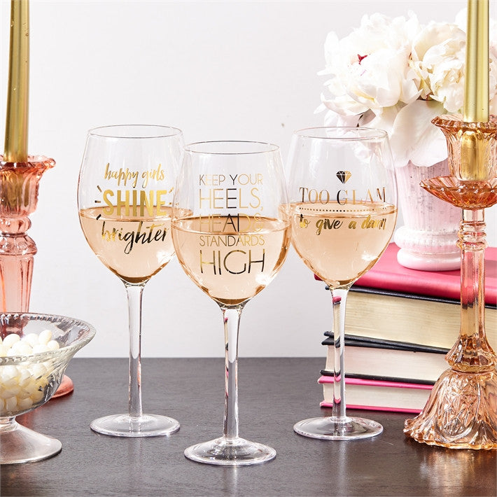 Glam Wine Glass