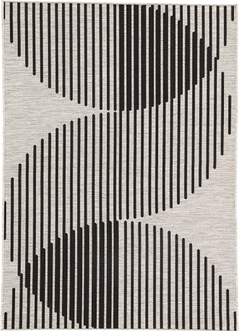 Graphic Curve Indoor/Outdoor Rug