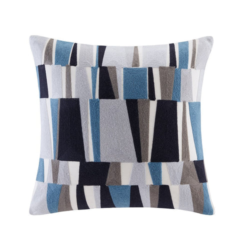 Embroidered Stripe Pillow
