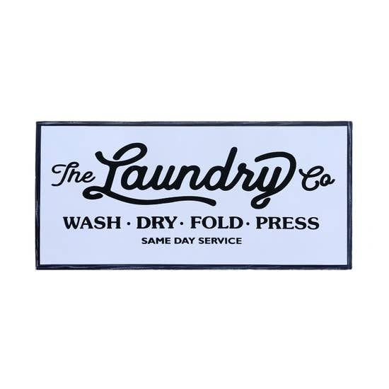 Same Day Laundry Sign
