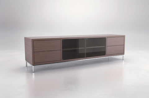 lacquer furniture house console black collections gramercy large walnut media mod on cupboard