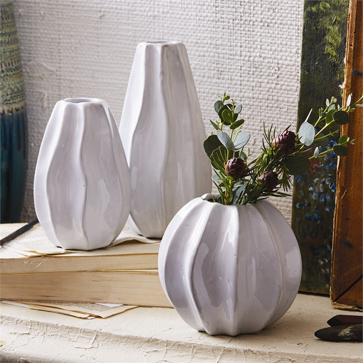 Art Studio White Line Vase
