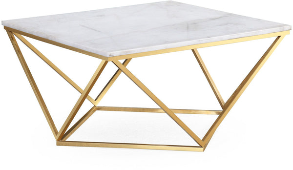 White Marble Geometric Table